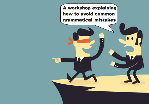 A workshop explaining how to avoid common grammatical mistakes